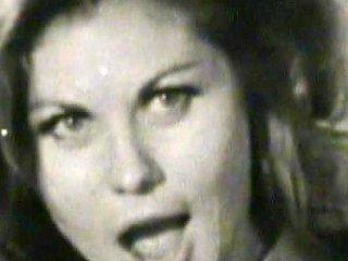 Busty Lady In Retro Porn Scene