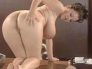 Big Tits Strip Teases On Desk Tubepornclassic Com